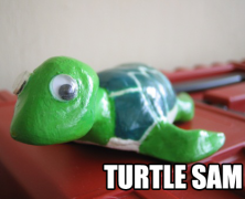 Paper Clay Turtle Sam